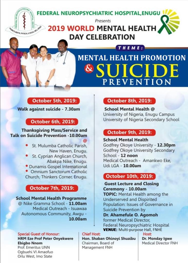 2019 World Mental Health Day
